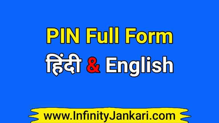 pin full form in hindi